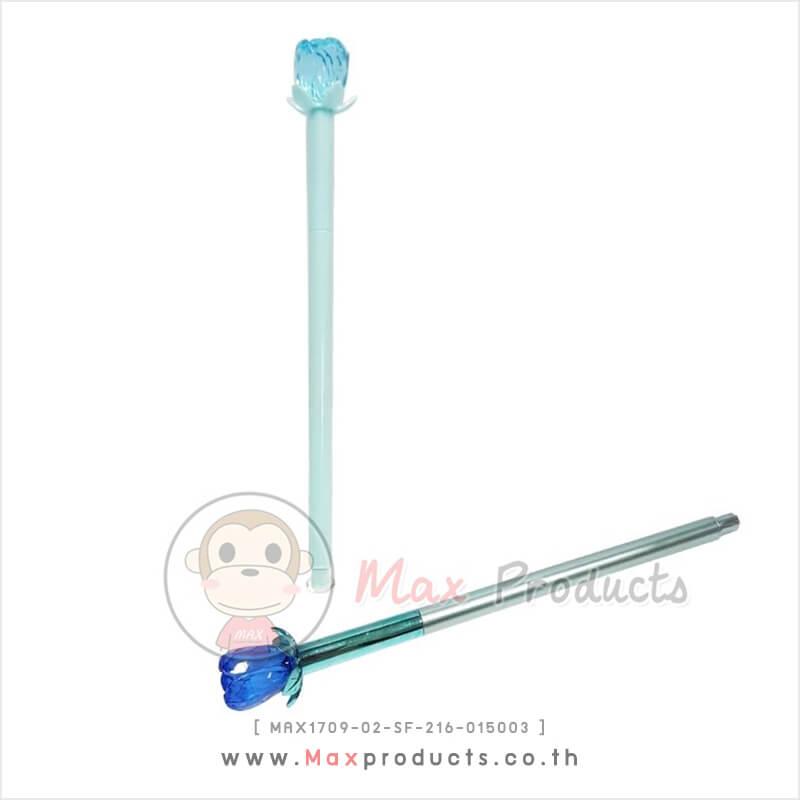 ปากกาหมึกเจล พรีเมี่ยม ลาย Rose มีรูปดอกกุหลาบปลายด้าม MAX1709-02-SF-216-015003