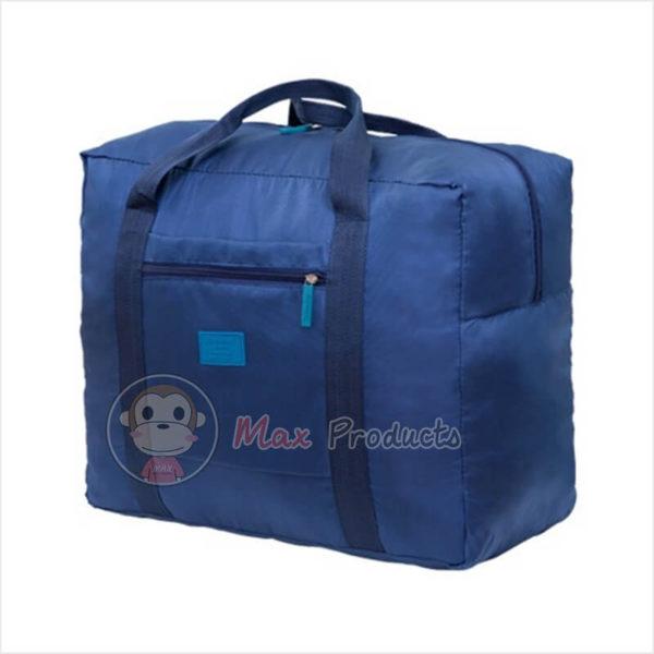 กระเป๋าเดินทาง พรีเมี่ยม รุ่น ป้ายยาง เสียบคันชักได้ สี กรม ภาพที่ 2