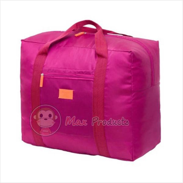 กระเป๋าเดินทาง พรีเมี่ยม รุ่น ป้ายยาง เสียบคันชักได้ สี ชมพู ภาพที่ 2