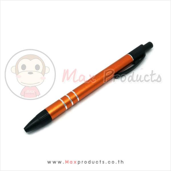 ปากกาเหล็ก พรีเมี่ยม 02 ปลายมีลาย 3 เส้นสีเงิน