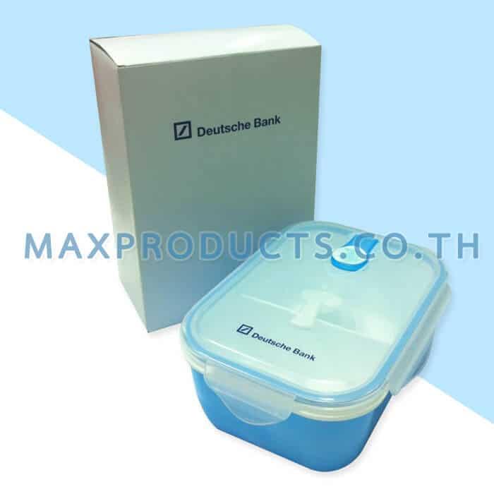 กล่องข้าวพลาสติก พรีเมี่ยม กล่อง สกรีน logo