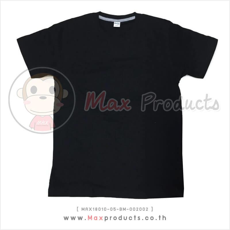 เสื้อคอกลม พรีเมี่ยม สีดำ (002002)